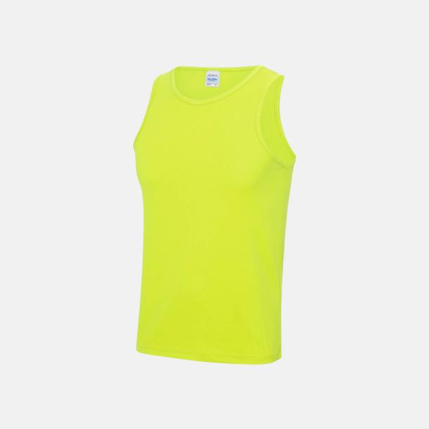 Electric Yellow (unisex) Enfärgade funktionslinnen i unisex-, dam & barnmodell med reklamtryck