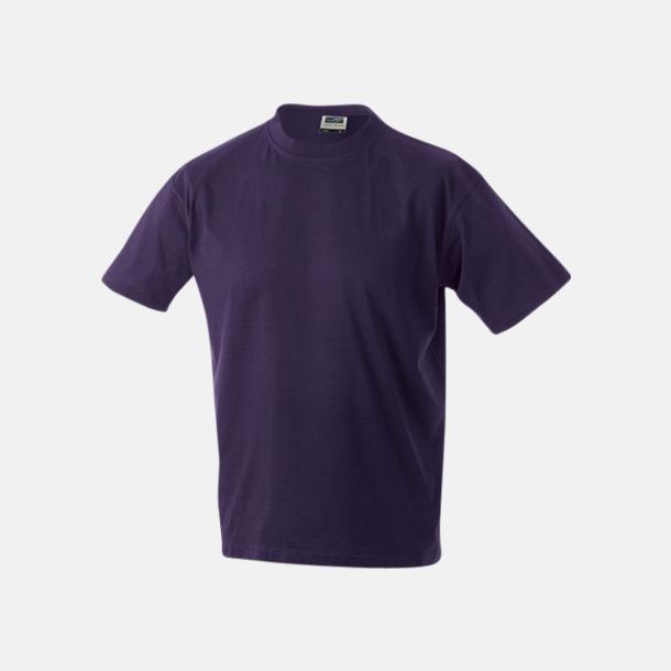 Aubergine Barn t-shirtar av kvalitetsbomull med eget tryck