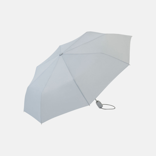 Ljusgrå Kompakta paraplyer med eget reklamtryck