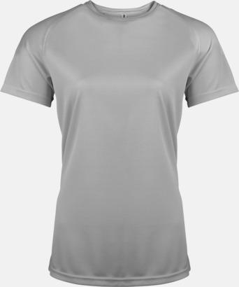 Fine Grey Sport t-shirts i många färger för damer - med reklamtryck