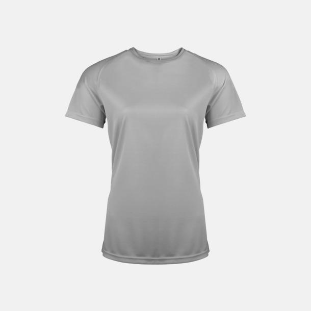 Fine Grey (solid) Sport t-shirts i många färger för damer - med reklamtryck