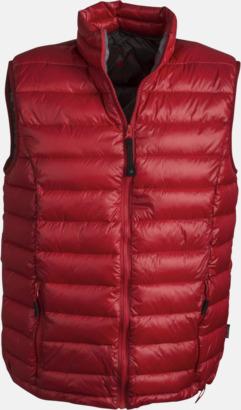 Röd (herr) Coated Body Warmer med eget reklamtryck eller brodyr