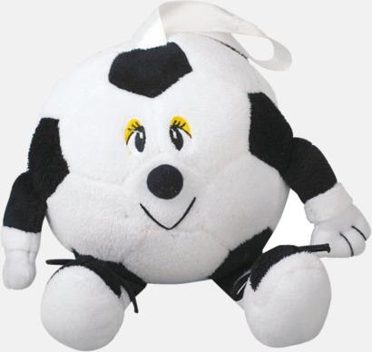 Fotbollsfigur (svart mun) Små maskotar att hänga i bilen - med reklamtryck