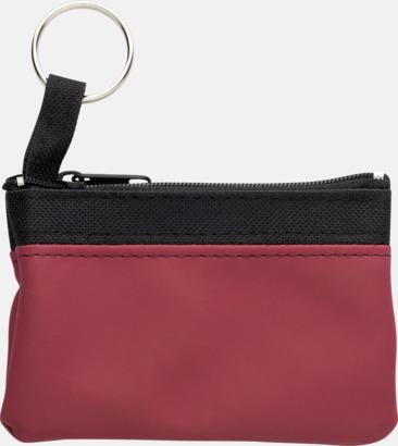 Mörkröd Små plånböcker med nyckelringar i mörka färger