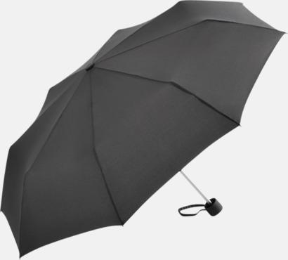 Grå Kompaktparaplyer i aluminium med tryck
