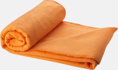 Orange Fleecefilt och bag - med tryck