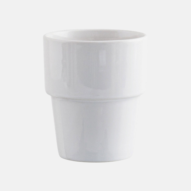 Vit Megara kaffemugg med reklamtryck