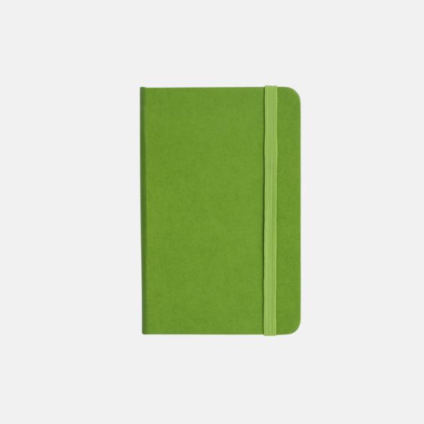 Grön Anteckningsbok A5 i konstläder med tryck