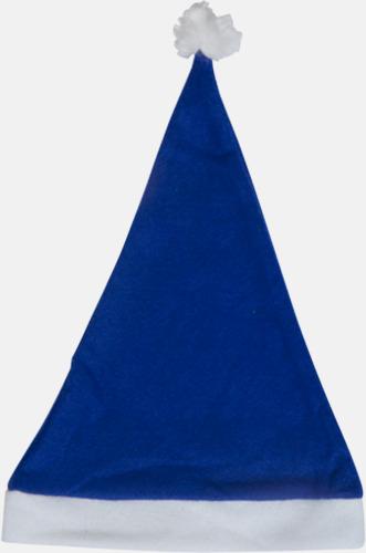Blå Tomteluvor i många färger med reklamtryck