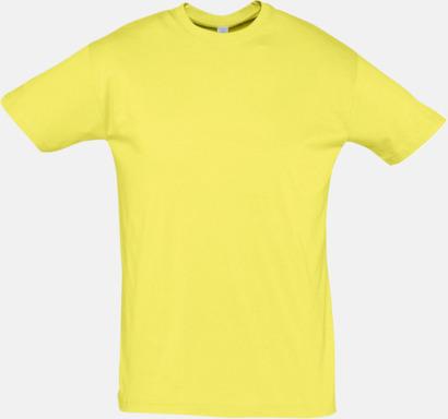 Pale Yellow Billiga herr t-shirts i rmånga färger med reklamtryck