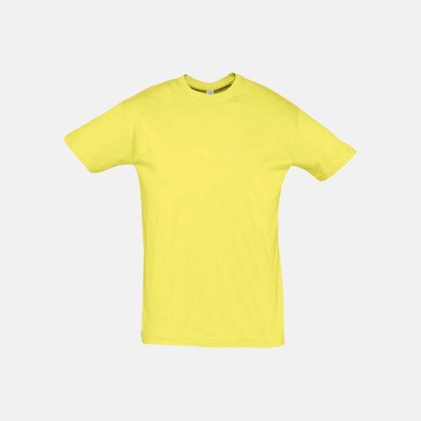 Pale Yellow Billiga unisex t-shirts i många färger med reklamtryck