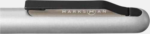 Klips (silver) Metallpennor med reklamlogga