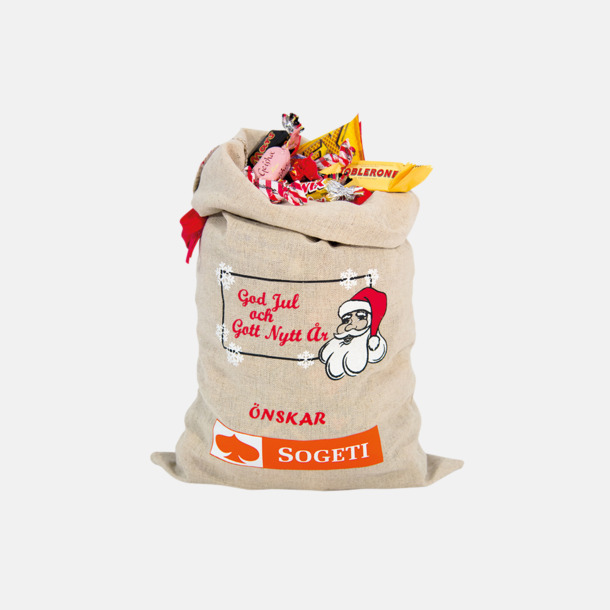 1800 gram (med tryck) Julsäckar i 3 storlekar med godis