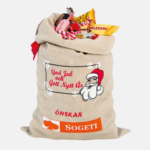 1800 gram (med tryck( Julsäckar i 3 storlekar med godis