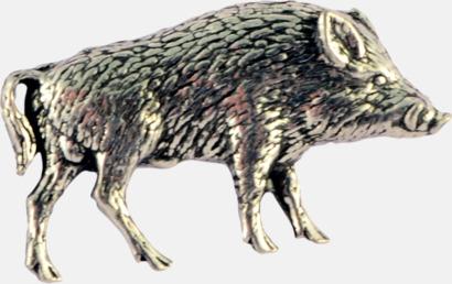 Vildsvin Engelska, handgjorda broscher med jaktmotiv