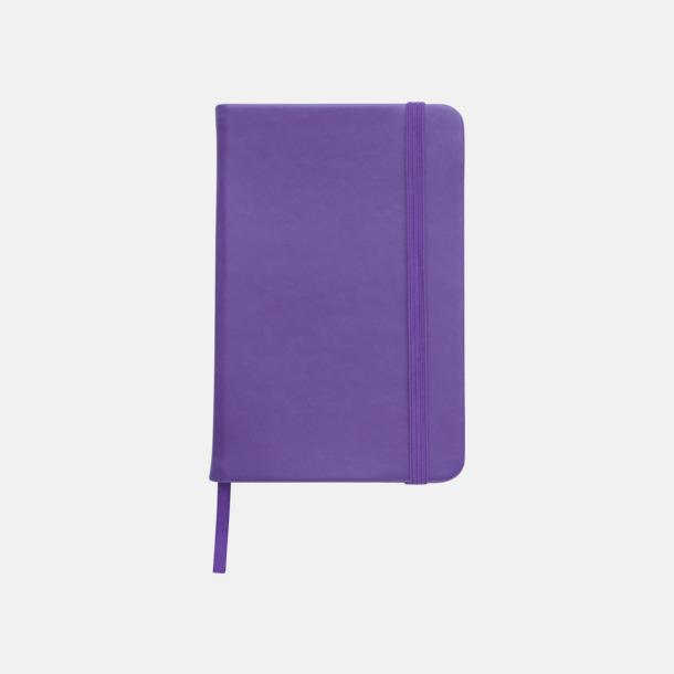 Lila Färgglada anteckningsböcker med tryck