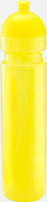 Transparent gul (1000 ml) Bulb-vattenflaskor i 4 storlekar med digitaltryck