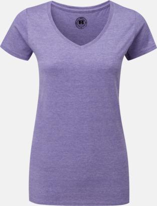 Purple Marl (v-neck dam) Färgstarka t-shirts i herr- och dammodell med reklamtryck