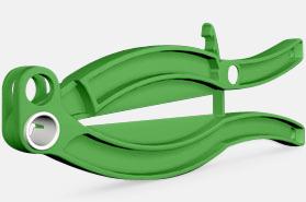 Grön Kraftfull förslutare med reklamtryck