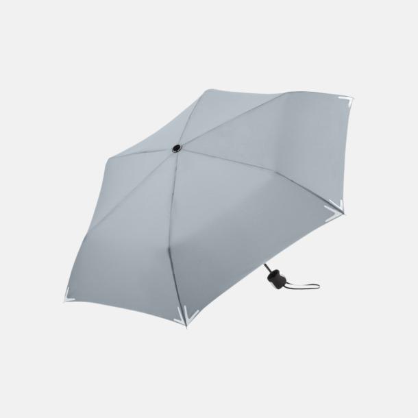 Ljusgrå Kompakta reflex paraplyer med eget reklamtryck