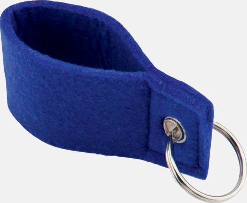 Blå Nyckelringar med färgade band - med reklamtryck