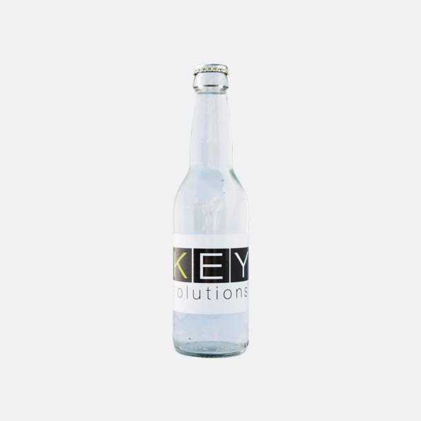 Vatten i glasflaska med egen logo