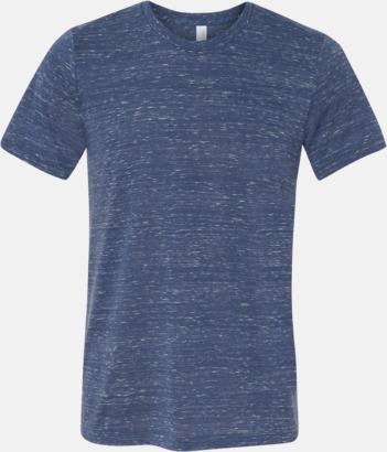 Marble Navy (heather) Unisex t-shirts i spräckliga färger med reklamtryck