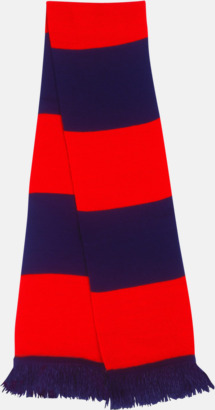 Marinblå/röd Halsdukar i olika lagfärger med egen brodyr