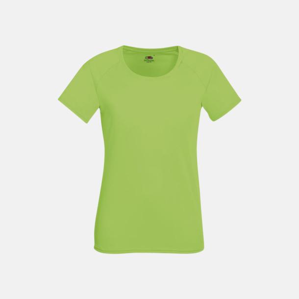 Limegrön (dam) Funktionströjor för herr, dam och barn - med reklamtryck