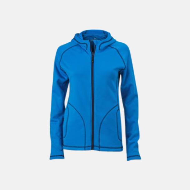 Azure/Marinblå (dam) Figursydda herr- & damjackor i fleece med reklamlogo