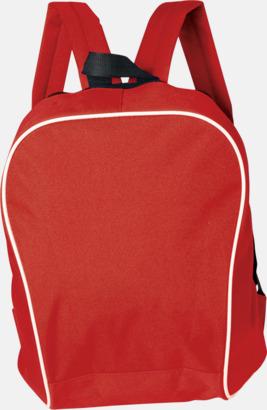 Röd Retroryggsäckar i snygg design - med reklamtryck