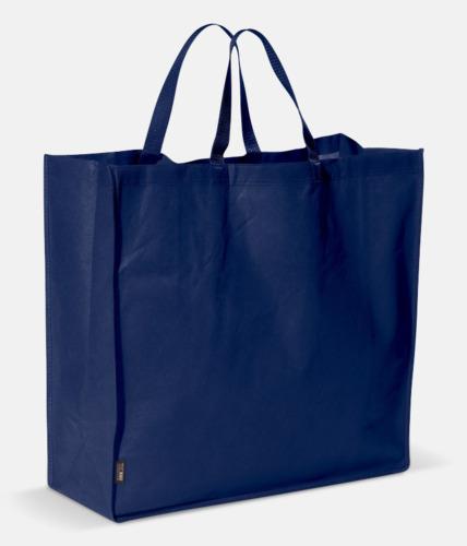 Marinblå Stor tygkasse med reklamtryck