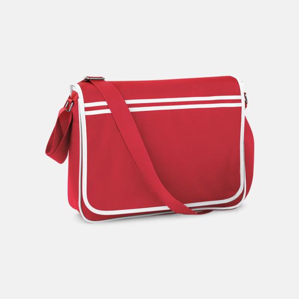 Classic Red/Vit Reklamväska för laptop med reklamtryck
