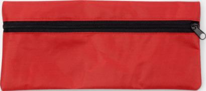 Röd Klassiska pennskrin med tryck