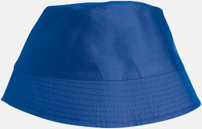 Royal Blå Bomullshattar i enfärgade- och tvåfärgade varianter med reklamtryck