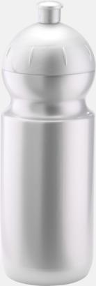 Ljus silver Bulb-vattenflaskor i 4 storlekar med digitaltryck