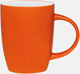 Orange / Vit Porslinskoppar med eget tryck