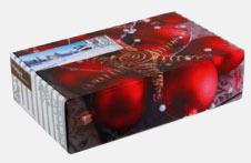 Jullåda fylld med delikatesser