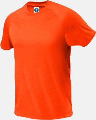 Floucerande Orange (herr) Funktions t-shirts i herr- & dammodell med reklamtryck