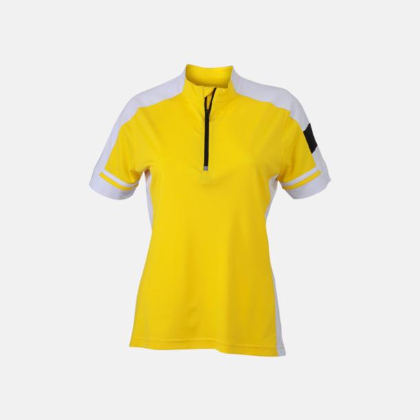 Sun Yellow (dam) Herr- och dam cykeltröjor med reklamtryck