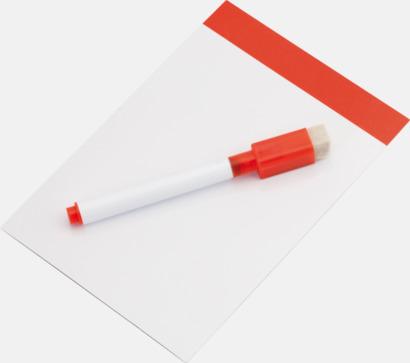 Vit / Röd Mini-writing boards med reklamtryck