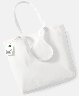 White Ekologiska tygkassar med egen reklam logga