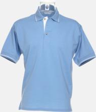 Tvåfärgade pikétröjor i herr- och dammodell med reklamtryck