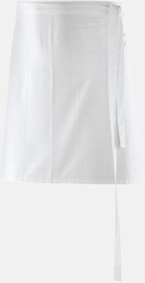 Vit (80 x 45 cm) Förkläden i 5 varianter med reklamtryck