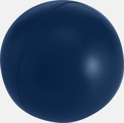 Marinblå Större stressbollar med reklamtryck