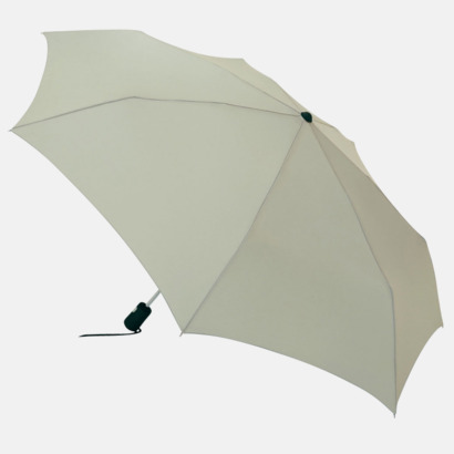 Ljusgrå Basildon Kompakt - Paraplyer Med tryck