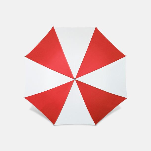 Röd / Vit Reklamparaply med tryck