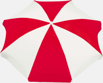 Röd / Vit Parasoller med eget tryck