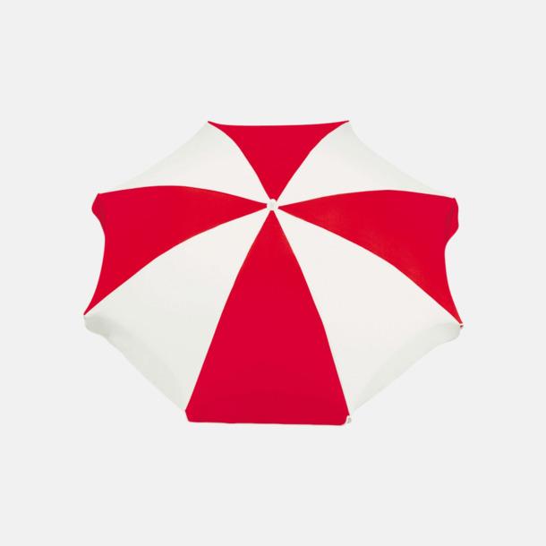 Röd / Vit Parasoller med eget reklamtryck