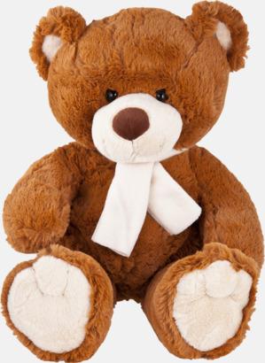 Brun björn (33 cm) Gosedjur med reklamtryckta halsdukar
